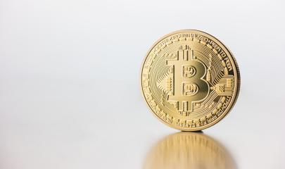 Cryptocurrency physical golden Bitcoin coin - Stock Photo or Stock Video of rcfotostock | RC-Photo-Stock