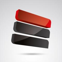 cube frames 3d vector icon as logo formation in black and red glossy colors, Corporate design. Vector illustration. Eps 10 vector file.- Stock Photo or Stock Video of rcfotostock | RC-Photo-Stock