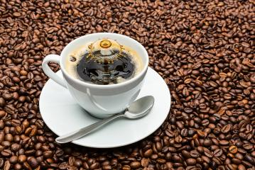 cup of coffee with a drop splash - Stock Photo or Stock Video of rcfotostock | RC-Photo-Stock