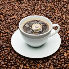 cup of coffee with a milk drop- Stock Photo or Stock Video of rcfotostock   RC-Photo-Stock
