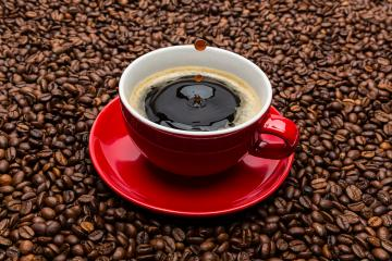 cup of coffee with a row of drops- Stock Photo or Stock Video of rcfotostock | RC-Photo-Stock
