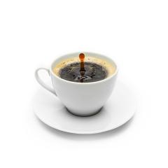 cup of coffee with drop- Stock Photo or Stock Video of rcfotostock | RC-Photo-Stock