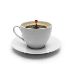 cup of coffee with drop impact- Stock Photo or Stock Video of rcfotostock | RC-Photo-Stock