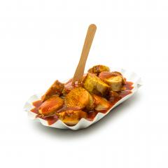 curry sausage isolated on white- Stock Photo or Stock Video of rcfotostock | RC-Photo-Stock