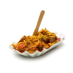 curry sausage with roasted onions- Stock Photo or Stock Video of rcfotostock | RC-Photo-Stock