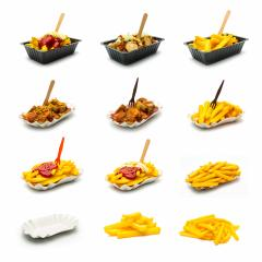 currywurst and french fries set collage  : Stock Photo or Stock Video Download rcfotostock photos, images and assets rcfotostock | RC-Photo-Stock.: