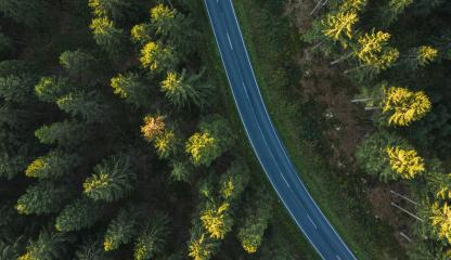 Curved aerial road from a drone : Stock Photo or Stock Video Download rcfotostock photos, images and assets rcfotostock | RC-Photo-Stock.: