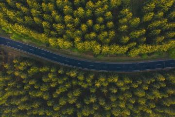 Curved aerial road from a drone- Stock Photo or Stock Video of rcfotostock | RC-Photo-Stock