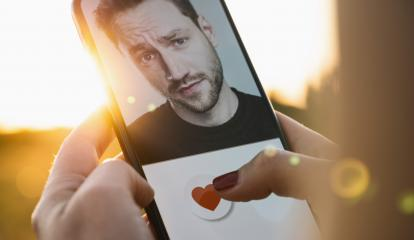 Dating app in mobile phone screen. Woman swiping and liking profiles on relationship site or application. Single woman using smartphone to find love, partner and boyfriend. Mockup website.- Stock Photo or Stock Video of rcfotostock | RC-Photo-Stock