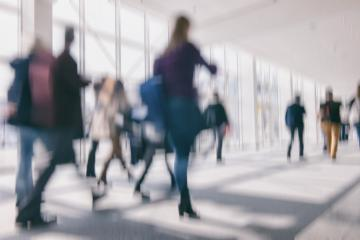 defocused background of business people walking in a floor, business travel concept- Stock Photo or Stock Video of rcfotostock | RC-Photo-Stock