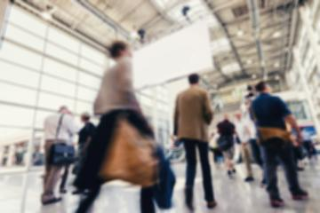 defocused people walking at a trade show : Stock Photo or Stock Video Download rcfotostock photos, images and assets rcfotostock | RC-Photo-Stock.: