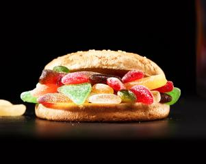Delicious homemade Hamburger made of colorful gummy sweets- Stock Photo or Stock Video of rcfotostock | RC-Photo-Stock