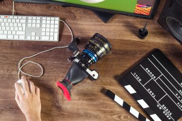 Desktop shot of a modern Cinema Camera : Stock Photo or Stock Video Download rcfotostock photos, images and assets rcfotostock   RC-Photo-Stock.: