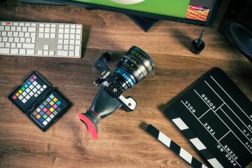Desktop shot of a modern Cinema Camera- Stock Photo or Stock Video of rcfotostock | RC-Photo-Stock