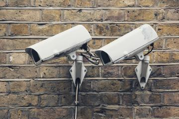 detail shot of CCTV security cameras front of building ,shot in london- Stock Photo or Stock Video of rcfotostock | RC-Photo-Stock