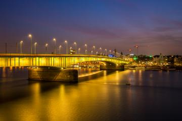 Deutzer bridge at cologne city at sunset- Stock Photo or Stock Video of rcfotostock   RC-Photo-Stock