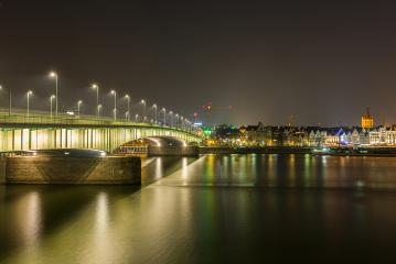 Deutzer bridge in cologne at night- Stock Photo or Stock Video of rcfotostock | RC-Photo-Stock