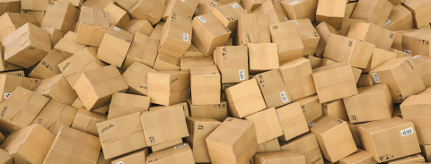 Distribution warehouse, package shipping, freight transportation, logistics and delivery concept, background with heap of cardboard boxes and parcels- Stock Photo or Stock Video of rcfotostock | RC-Photo-Stock