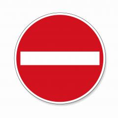 Do not enter blank sign. German traffic sign Warning red circle icon of entry on white background. Vector illustration. Eps 10 vector file.- Stock Photo or Stock Video of rcfotostock | RC-Photo-Stock