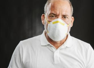 Doctor wearing an anti virus protection mask to prevent others from corona COVID-19 and SARS cov 2 infection : Stock Photo or Stock Video Download rcfotostock photos, images and assets rcfotostock | RC-Photo-Stock.: