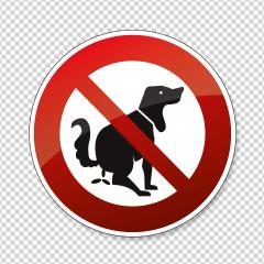 Dog and excrement, no dog pooping. Shitting is not allowed. No poo poo, prohibition sign, on checked transparent background. Vector illustration. Eps 10 vector file.- Stock Photo or Stock Video of rcfotostock | RC-Photo-Stock