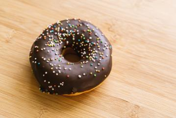donut with chocolate glazed and sprinkles- Stock Photo or Stock Video of rcfotostock | RC-Photo-Stock