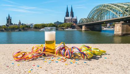 drink a beer at cologne city at carnival in germany- Stock Photo or Stock Video of rcfotostock | RC-Photo-Stock