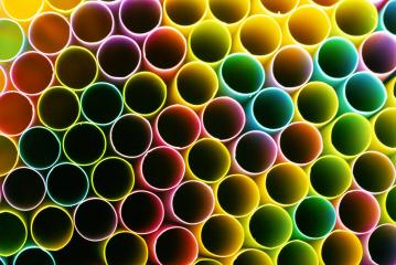 Drinking straws in different colors in a grid- Stock Photo or Stock Video of rcfotostock | RC-Photo-Stock