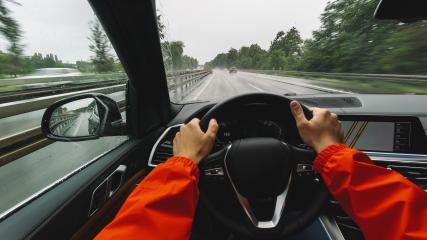 Driving car at a rainy day on a highway - POV, first person view shot : Stock Photo or Stock Video Download rcfotostock photos, images and assets rcfotostock | RC-Photo-Stock.: