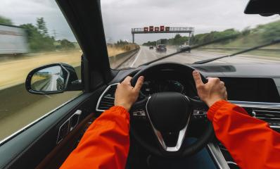 Driving car at a rainy day on a highway - POV, first person view shot- Stock Photo or Stock Video of rcfotostock | RC-Photo-Stock
