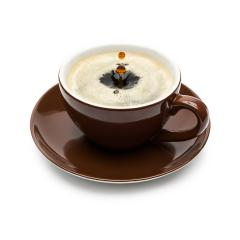 Drop falling into a cup of coffee- Stock Photo or Stock Video of rcfotostock | RC-Photo-Stock