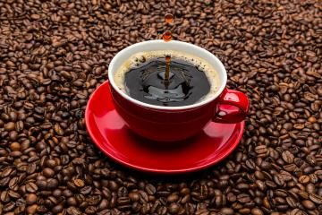 drop of coffee on beans- Stock Photo or Stock Video of rcfotostock | RC-Photo-Stock