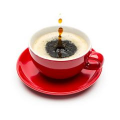 Drops falling into a cup of coffee- Stock Photo or Stock Video of rcfotostock | RC-Photo-Stock