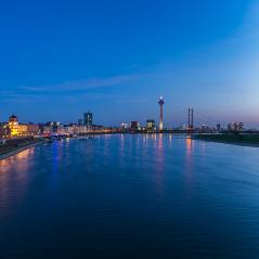 Dusseldorf at blue hour night- Stock Photo or Stock Video of rcfotostock | RC-Photo-Stock