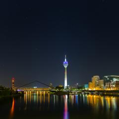 Dusseldorf at night- Stock Photo or Stock Video of rcfotostock | RC-Photo-Stock