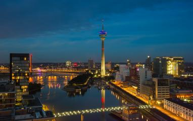Dusseldorf at night, germany- Stock Photo or Stock Video of rcfotostock | RC-Photo-Stock