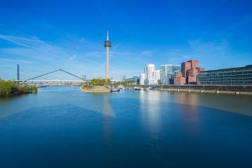 Dusseldorf at spring- Stock Photo or Stock Video of rcfotostock | RC-Photo-Stock