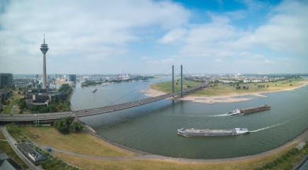 Dusseldorf at the rhine shore on a cloudy day panorama- Stock Photo or Stock Video of rcfotostock | RC-Photo-Stock