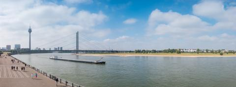 Dusseldorf at the rhine shore panorama- Stock Photo or Stock Video of rcfotostock   RC-Photo-Stock