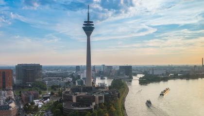 Dusseldorf city skyline at sunrise- Stock Photo or Stock Video of rcfotostock | RC-Photo-Stock