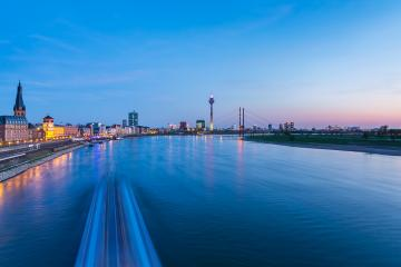 Dusseldorf cityscape at blue hour : Stock Photo or Stock Video Download rcfotostock photos, images and assets rcfotostock | RC-Photo-Stock.: