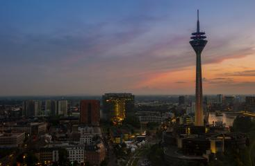 Dusseldorf cityscape at night, germany- Stock Photo or Stock Video of rcfotostock | RC-Photo-Stock