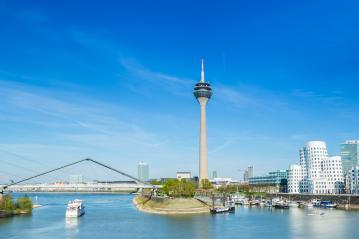 Dusseldorf cityscape at spring- Stock Photo or Stock Video of rcfotostock | RC-Photo-Stock