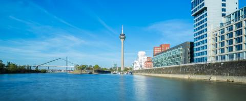 Dusseldorf cityscape panorama  : Stock Photo or Stock Video Download rcfotostock photos, images and assets rcfotostock | RC-Photo-Stock.:
