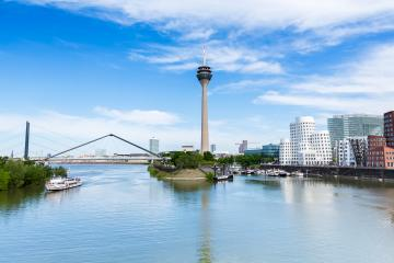 Dusseldorf cityscape skyline at summer, Germany- Stock Photo or Stock Video of rcfotostock | RC-Photo-Stock