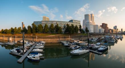 dusseldorf harbour germany panorama- Stock Photo or Stock Video of rcfotostock | RC-Photo-Stock