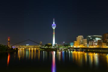 Dusseldorf media harbor at night : Stock Photo or Stock Video Download rcfotostock photos, images and assets rcfotostock | RC-Photo-Stock.: