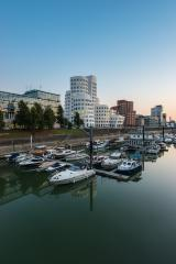 Dusseldorf media harbor at sunset- Stock Photo or Stock Video of rcfotostock | RC-Photo-Stock