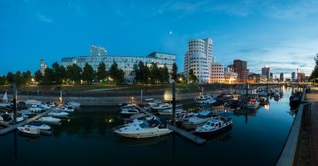 Dusseldorf media harbor night panorama- Stock Photo or Stock Video of rcfotostock | RC-Photo-Stock