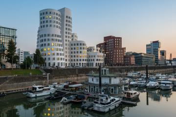 Dusseldorf media harbor, Nordrhein-Westfalen, Germany, Europe- Stock Photo or Stock Video of rcfotostock | RC-Photo-Stock